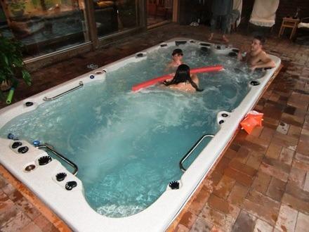 arctic spas hot tub swim spa inside family
