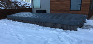 End to End Swim Spa Cover a Hot tub in winter